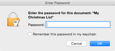 Pages my Christmas list open with password