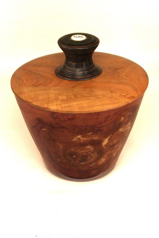 "Bob Grudberg 8"" x 8"" Beads of Courage box [cedar, cherry, colored laminate, bead]"