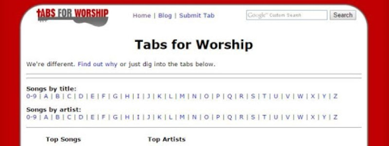 Tabs for Worship
