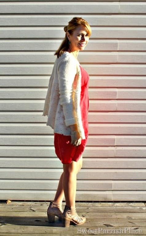 red-dress-cream-cardi-booties-1