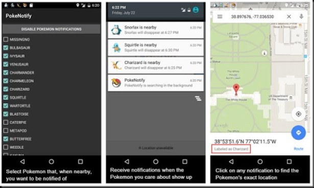 tutorial mengaktifkan notifikasi pokemon go android