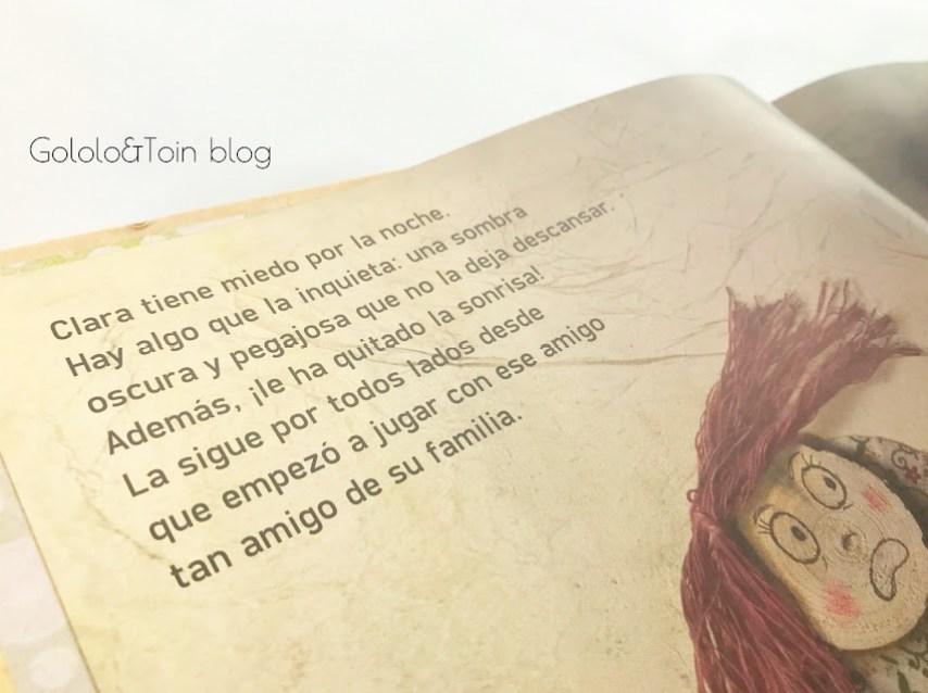 Clara y su sombra cuento de la editorial Uranito para hablar del abuso sexual infantil