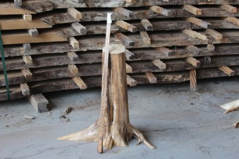 "558  White Cedar Table Base -19 23"" x 6"" Wide"