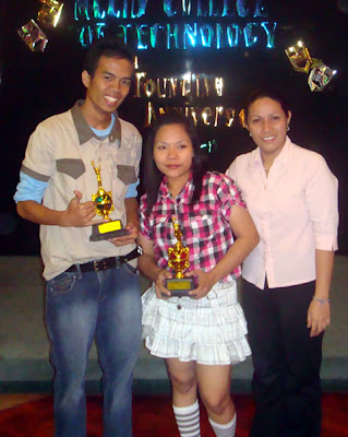Best Comedy Actors Christopher Sufrir and Cindelyn Ramos with Ma'am Beth Lumangyao