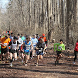 Start of the Princeton Athletic Club Institute Woods 6K April 5, 2014