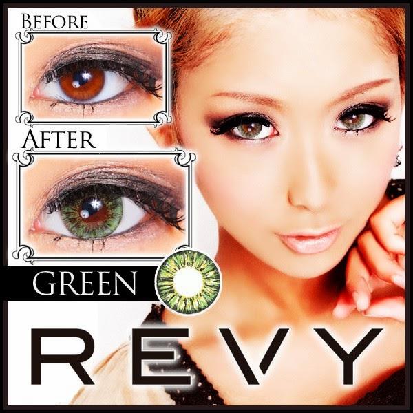 グラムカラコンREVY(レヴィ)度あり&度なしカラコングリーン緑コン 商品画像