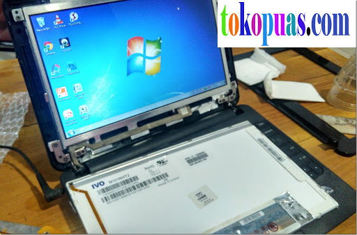tutorial mengganti LCD netbook hp mini