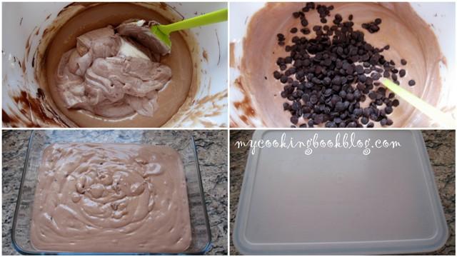 Шоколадов сладолед без разбъркване при замразяването