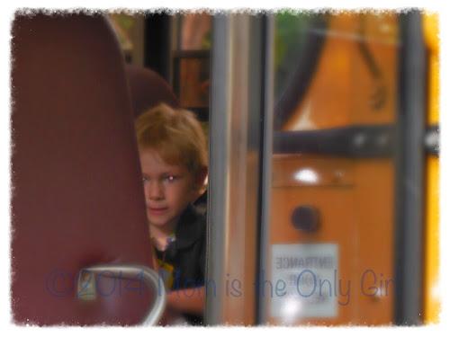first day of school on bus http://www.momistheonlygirl.com