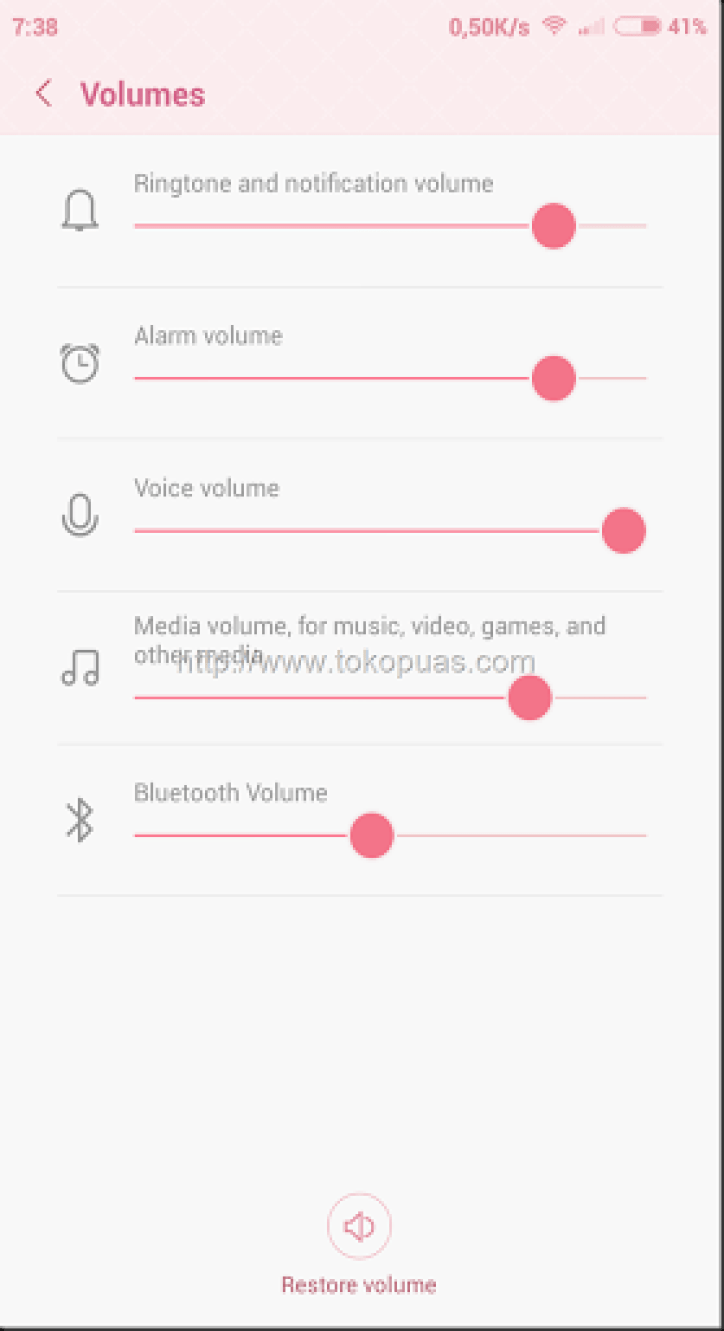 cara setting volume setiap aplikasi yang terinstall di android