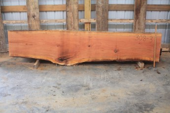 Cherry 308-3  Length 10', Max Width (inches) 28 Min Width (inches) 21 Thickness 10/4  Notes :