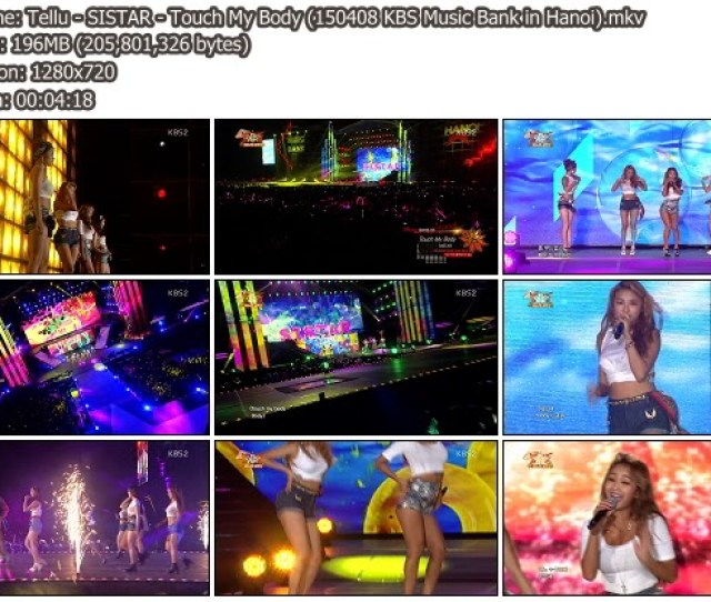 Download Music Video File Perf Sistar Touch My Body I Swear Kbs Music Bank In Hanoi  185 Mib Hosted Mf Mega