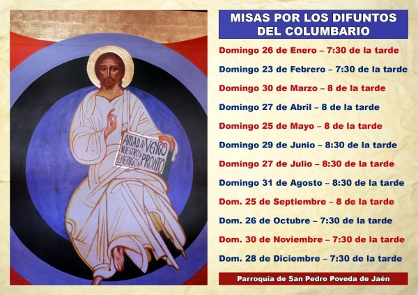 Misas del Columbario Parroquial