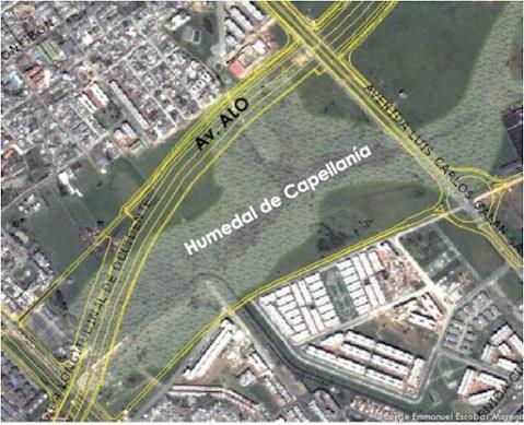 Humedal Capellanía, Av ALO