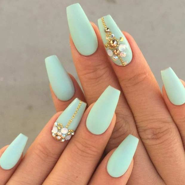 Nail Art Ideas For Coffin Nails For 2016 Styles 2d