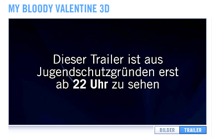 My Bloody Valentine und der Jugendschutz - Screenshot Kinowelt.de