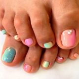 Adorable Toe Nail style For  Summer 2015