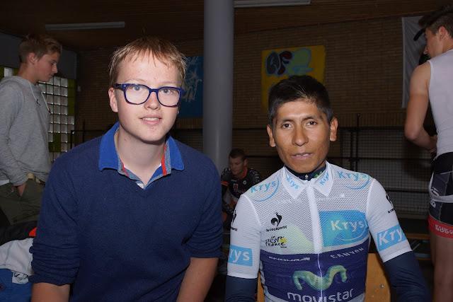 Thomas Leenknegt en Nairo Quintana