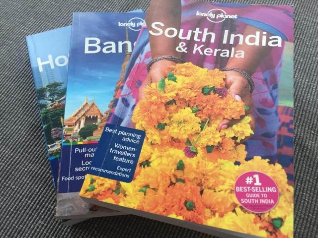 Lonely-planet-guides-Hong-Kong-Bangkok-South-India-Kerala