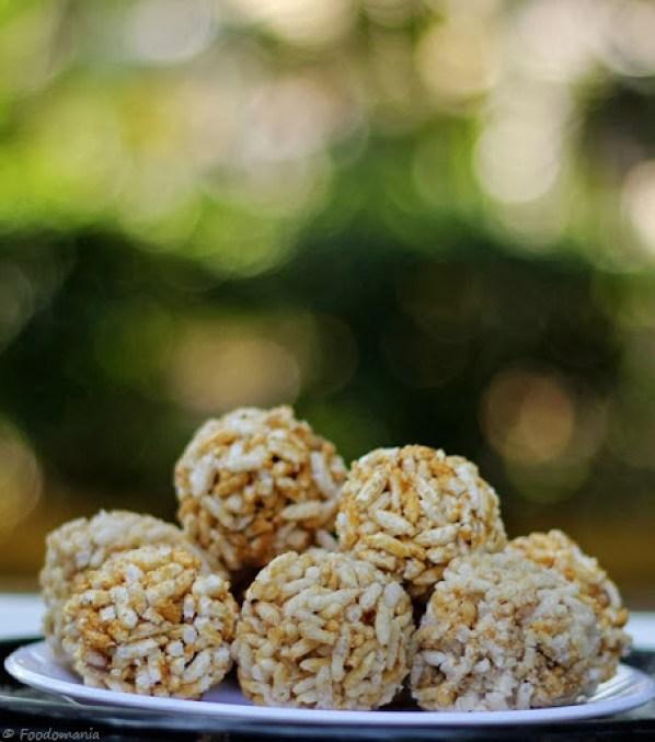 Pori Urundai Recipe | South Indian Sweet Puffed Rice Balls
