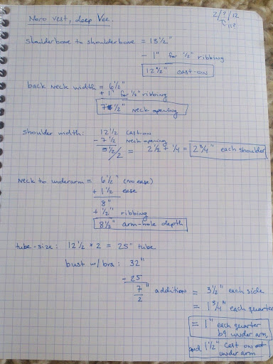 My working math, page 1