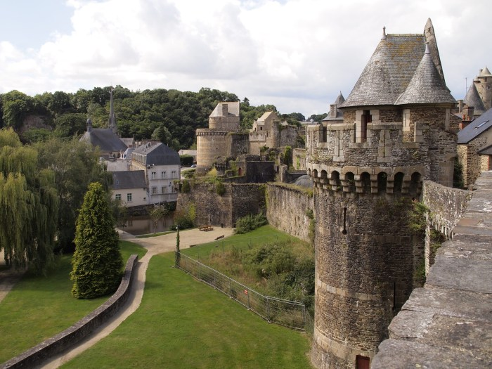 The ramparts of Fougeres