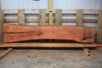 "Cherry 299-4  Length 13' 6"", Max Width (inches) 33 Min Width (inches) 23 Thickness 10/4  Notes : Kiln Dried"