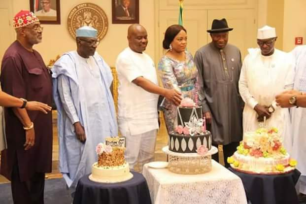 JONATHAN , GOVERNOR WIKE , OTHERS CELEBRATE JUSTICE EBERECHI SUZZETTE NYESOM-WIKE'S BIRTHDAY