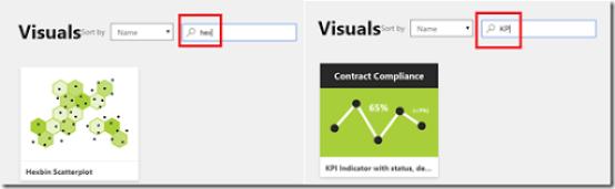 Choosing custom visuals from Power BI Visuals gallery