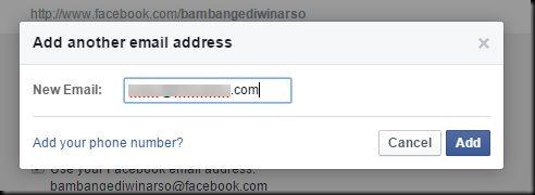 cara mudah menjadikan email utama facebook