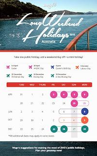 Australia Public Holidays 2015