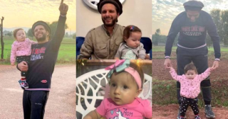 Cricketer Shahid Afridi With His Youngest Daughter Urwa