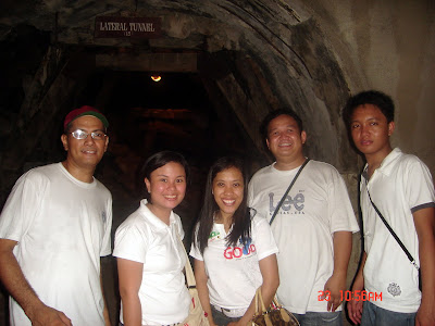 MCCID faculty had a photo shoot inside one of Malinta's Lateral Tunnel.