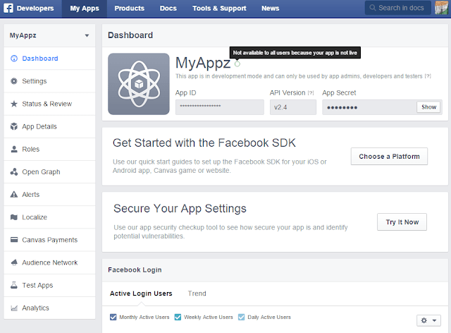 Make facebook app avaliable for all user