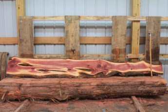 "Cedar 282-8  Length 10' 6"" Max Width (inches) 14 Min Width (inches) 5 Thickness 6/4  Notes : Kiln Dried"