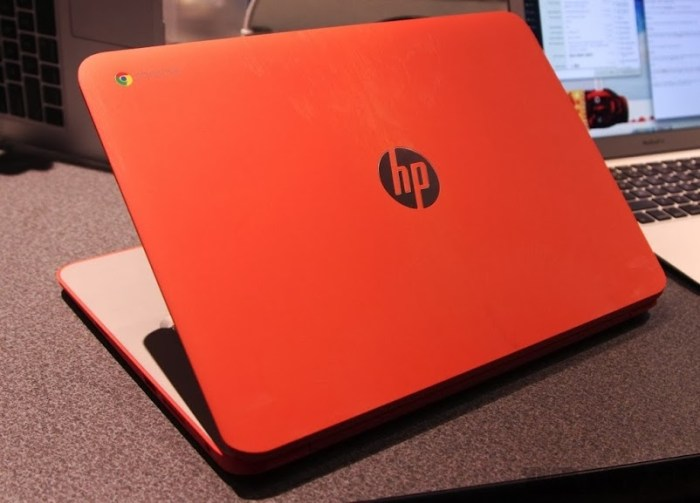 HP Chromebook 14 Orange