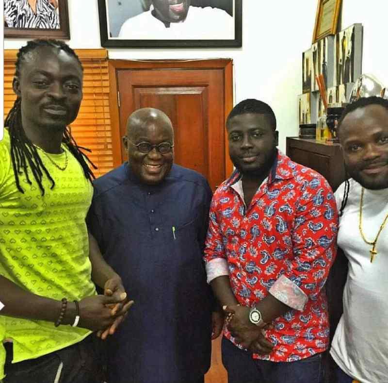 Kobby Blackmoe with Pres. Akufo-Addo & Praye