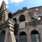 The three walls of the Coloseum.