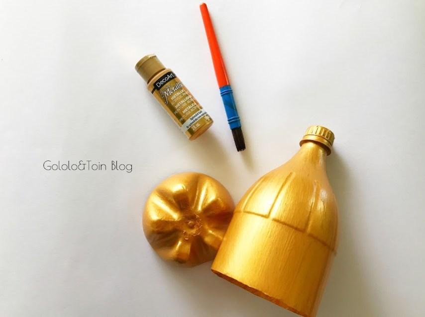 pintar botellas de plastico para manualidades