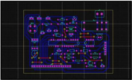 Complete PCB Layout of smart energy meter