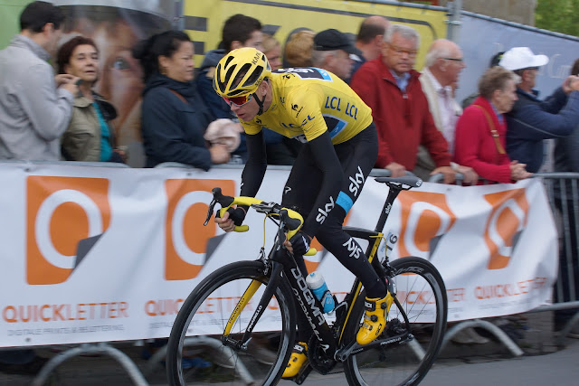 Chris Froome in natourcriterium Roeselare