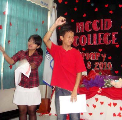 Emcees Jepa Kerena Basilio and Wilhein Chan