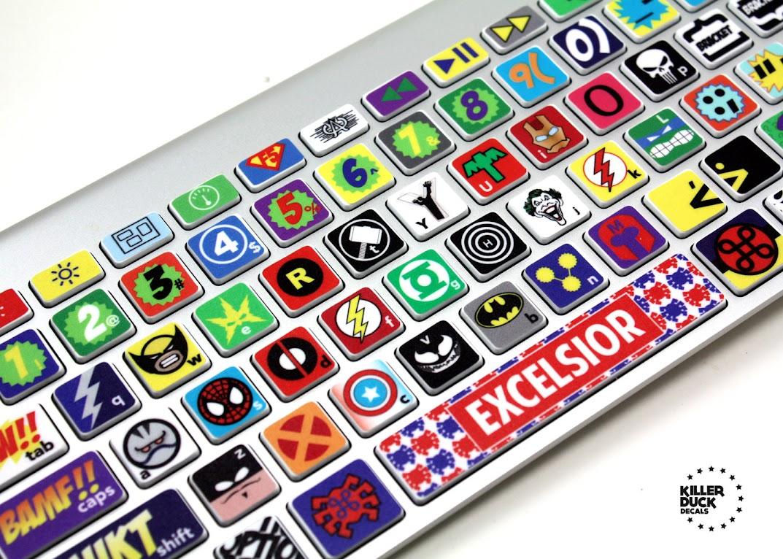 *MACBOOK 超級英雄鍵盤貼紙:打擊你的沉悶! 2