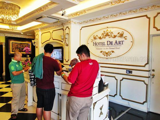 The reception area at Hotel de Art Shah Alam