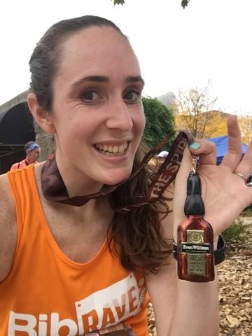 urban bourbon half marathon medal
