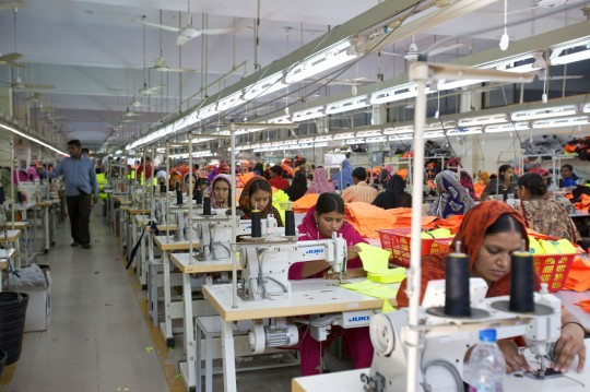Line efficiency of a Garment Production