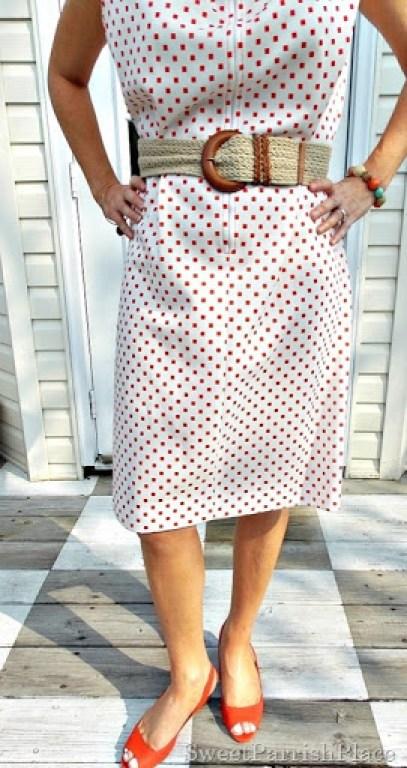 Vintage 1960's Dress, leopard sweater, orange peep toes4