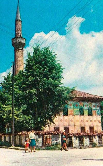 tetovo postcard 5 - Colorful mosque (Шарена џамија) - most recognized monument in Tetovo