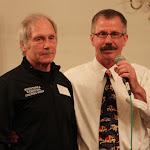 Lifetime Achievement Award recipient Jeff Lamphere of Minnetonka and MWCA Banquet Co-MC Bill Schmidt.