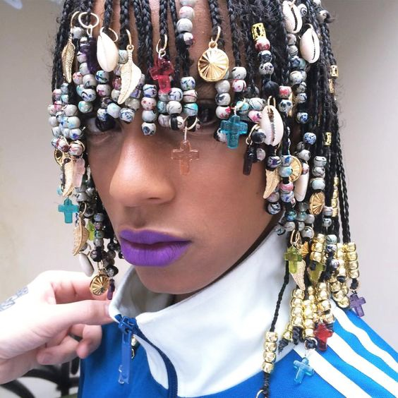 2018  Braids Hairstyles with Beads For Black Women's 4